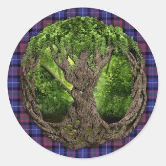 Celtic Tree Of Life Pride Of Scotland Tartan Sticker