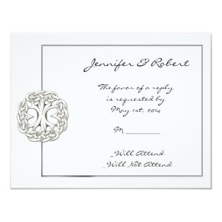 "Celtic Tree of Life Response Card 4.25"" X 5.5"" Invitation Card"