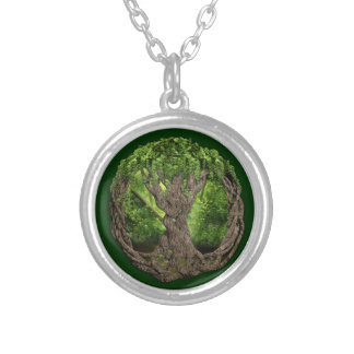 Celtic Tree Of Life Round Pendant Necklace