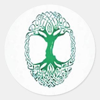 celtic tree of life round sticker