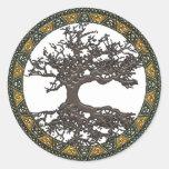 Celtic Tree of Life Round Stickers