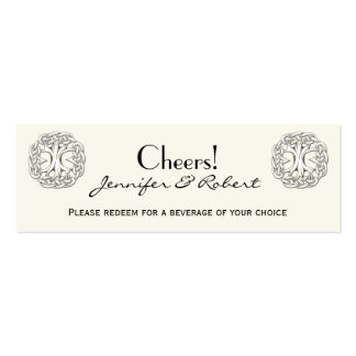 Celtic Tree of Life Wedding Drink Tickets Business Cards