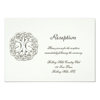 Celtic Tree of Life Wedding Reception Card