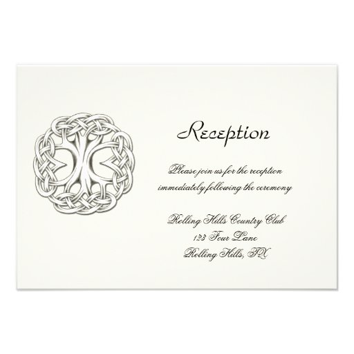 Celtic Tree of Life Wedding Reception Personalized Announcements