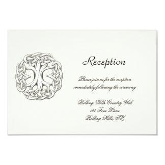 "Celtic Tree of Life Wedding Reception 3.5"" X 5"" Invitation Card"