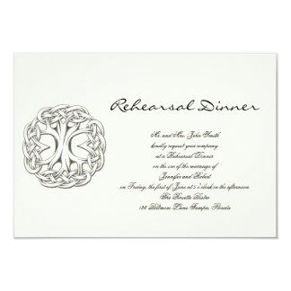 Celtic Tree of Life Wedding Rehearsal Card