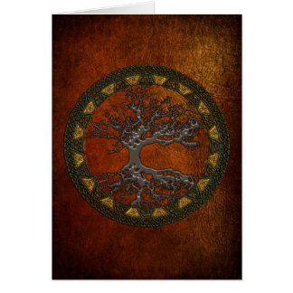 Celtic Tree of Life [Yggdrasil] Card