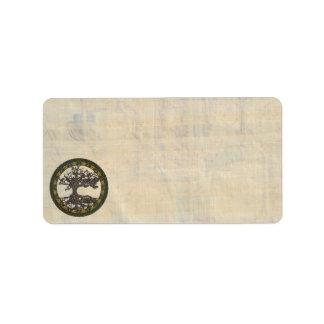 Celtic Tree of Life [Yggdrasil] Label