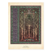 Celtic Trees Design Postcard