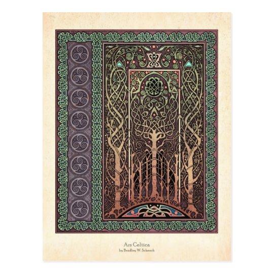 Celtic Trees Design Postcard
