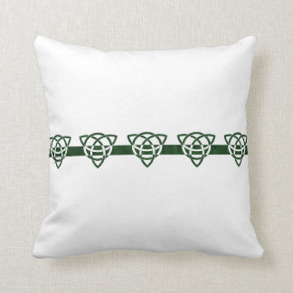 Celtic Tri-point Knot Pattern Throw Pillow