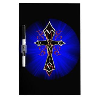 Celtic Tribal Cross Dry Erase Board