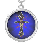 Celtic Tribal Cross Silver Plated Necklace