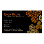 Celtic Tribal Curl Swirl Business Card