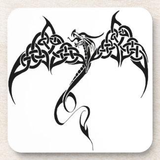 Celtic Tribal Dragon Beverage Coaster