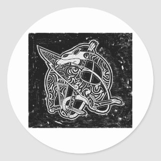Celtic Tribal Dragon Classic Round Sticker