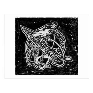 Celtic Tribal Dragon Postcard
