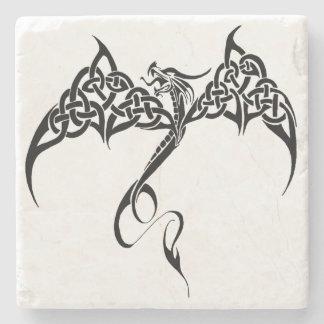 Celtic Tribal Dragon Stone Coaster