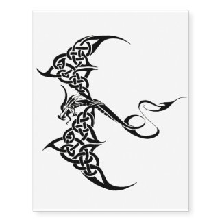 Celtic Tribal Dragon Temporary Tattoos