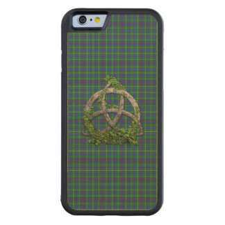 Celtic Trinity And Clan Bailey Tartan Carved Maple iPhone 6 Bumper Case