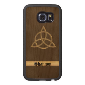 Celtic Trinity Circle Knot Wood Galaxy Case