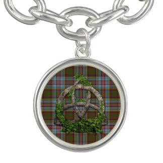 Celtic Trinity Knot And Clan Anderson Tartan Bracelets