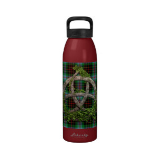 Celtic Trinity Knot And Clan Brodie Hunting Tartan Drinking Bottles