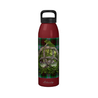 Celtic Trinity Knot And Clan Brodie Hunting Tartan Water Bottles
