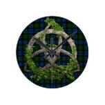 Celtic Trinity Knot And Clan Campbell Tartan Wallclocks