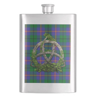 Celtic Trinity Knot And Clan Carmichael Hip Flask