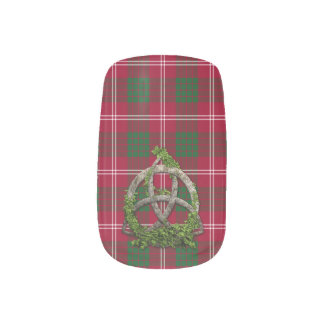 Celtic Trinity Knot And Clan Crawford Tartan Minx® Nail Art