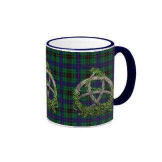 Celtic Trinity Knot And Clan Davidson Tartan Mugs