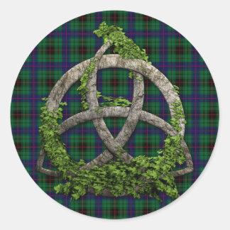 Celtic Trinity Knot And Clan Davidson Tartan Stickers