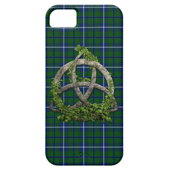 Celtic Trinity Knot And Clan Douglas Tartan iPhone SE/5/5s Case