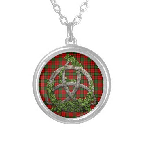 Celtic Trinity Knot And Clan Dunbar Tartan
