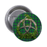Celtic Trinity Knot And Clan Duncan Tartan 2 Inch Round Button