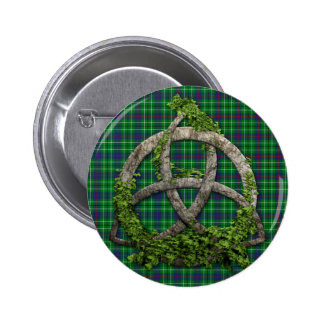 Celtic Trinity Knot And Clan Duncan Tartan Button