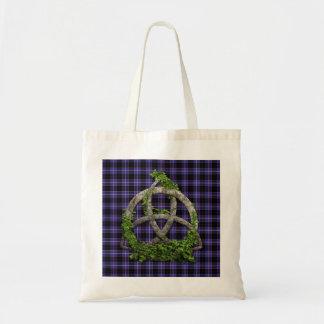 Celtic Trinity Knot And Clan Dunlap Tartan Budget Tote Bag