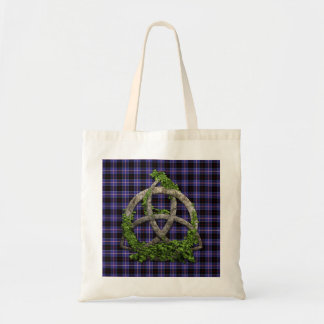 Celtic Trinity Knot And Clan Dunlap Tartan Tote Bag