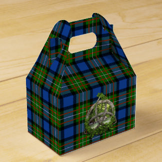 Celtic Trinity Knot And Clan Fergusson Tartan Favor Box