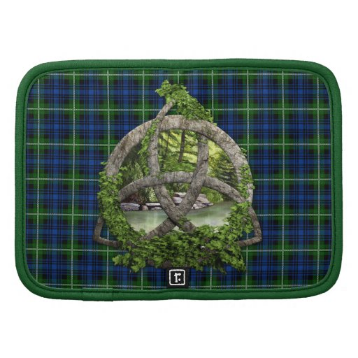 Celtic Trinity Knot And Clan Forbes Tartan Folio Planner