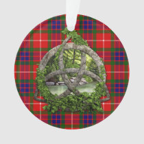 Celtic Trinity Knot And Clan Fraser Tartan