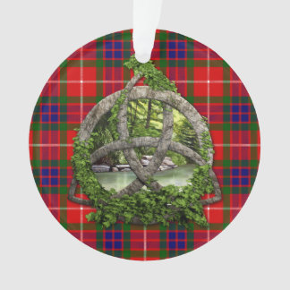 Celtic Trinity Knot And Clan Fraser Tartan Ornament