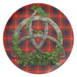 Celtic Trinity Knot And Clan Fraser Tartan Plate