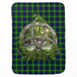 Celtic Trinity Knot And Clan Gordon Tartan Stroller Blanket