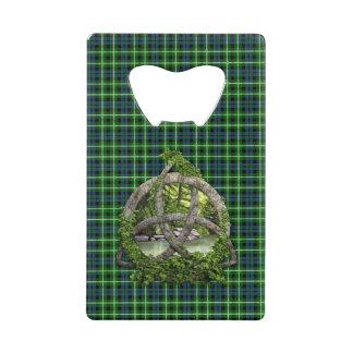 Celtic Trinity Knot And Clan Graham Tartan Credit Card Bottle Opener
