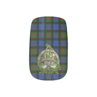 Celtic Trinity Knot And Clan Gunn Tartan Minx Nail Art