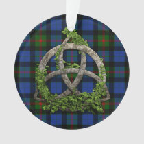Celtic Trinity Knot And Clan Gunn Tartan