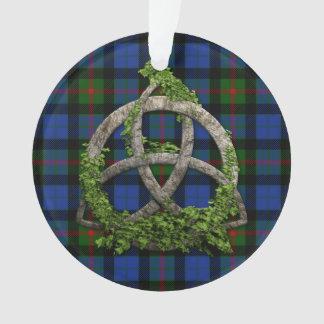 Celtic Trinity Knot And Clan Gunn Tartan Ornament