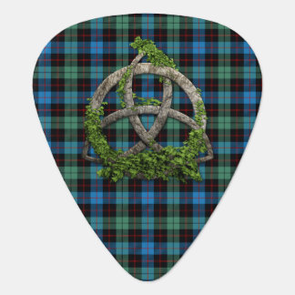 Celtic Trinity Knot And Clan Guthrie Tartan Guitar Pick